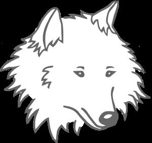 Logo CKCSJ loup fond blanc